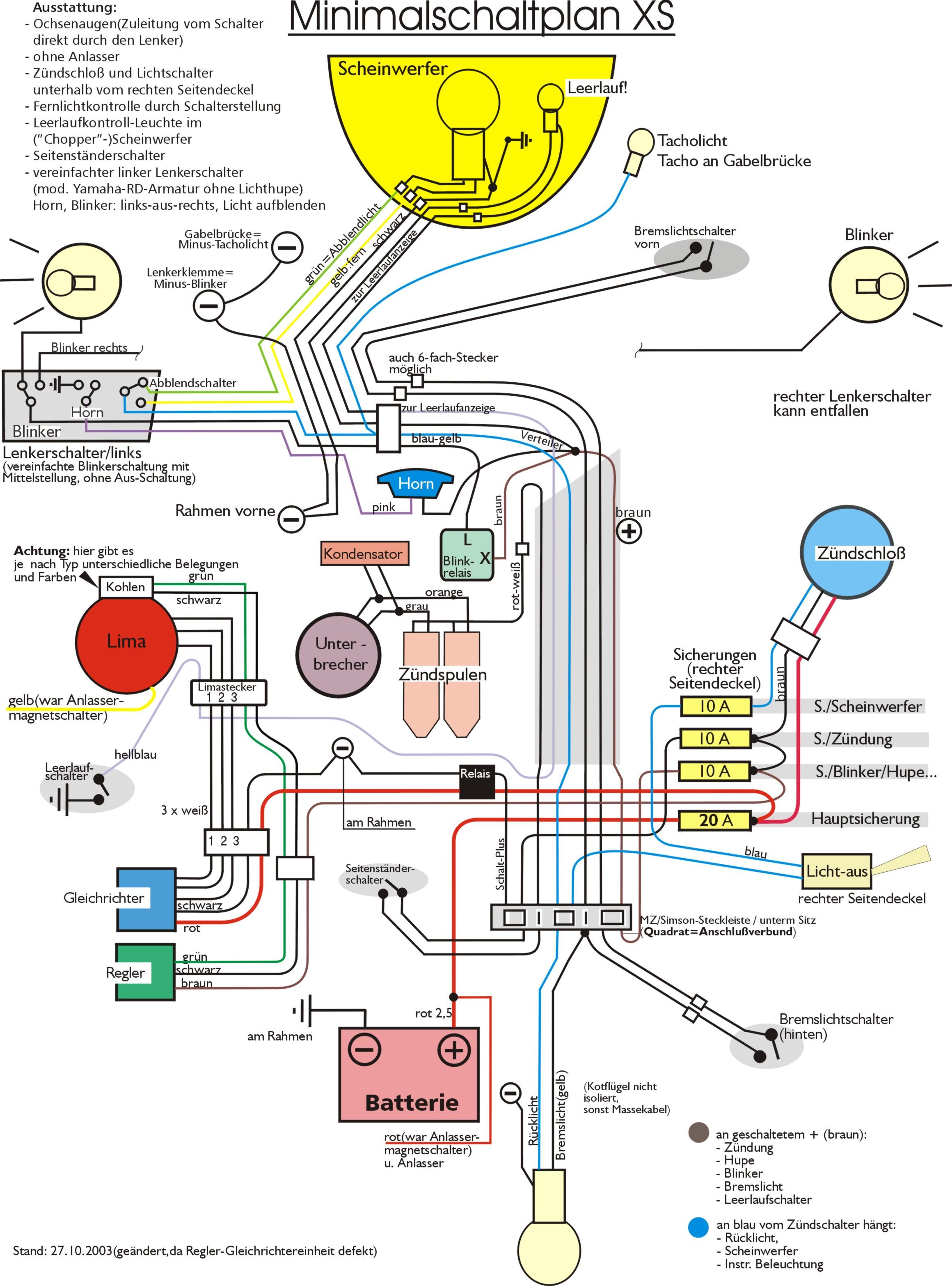 Ungewöhnlich Elektrischer Schaltplan Des Motorrades Bilder - Der ...
